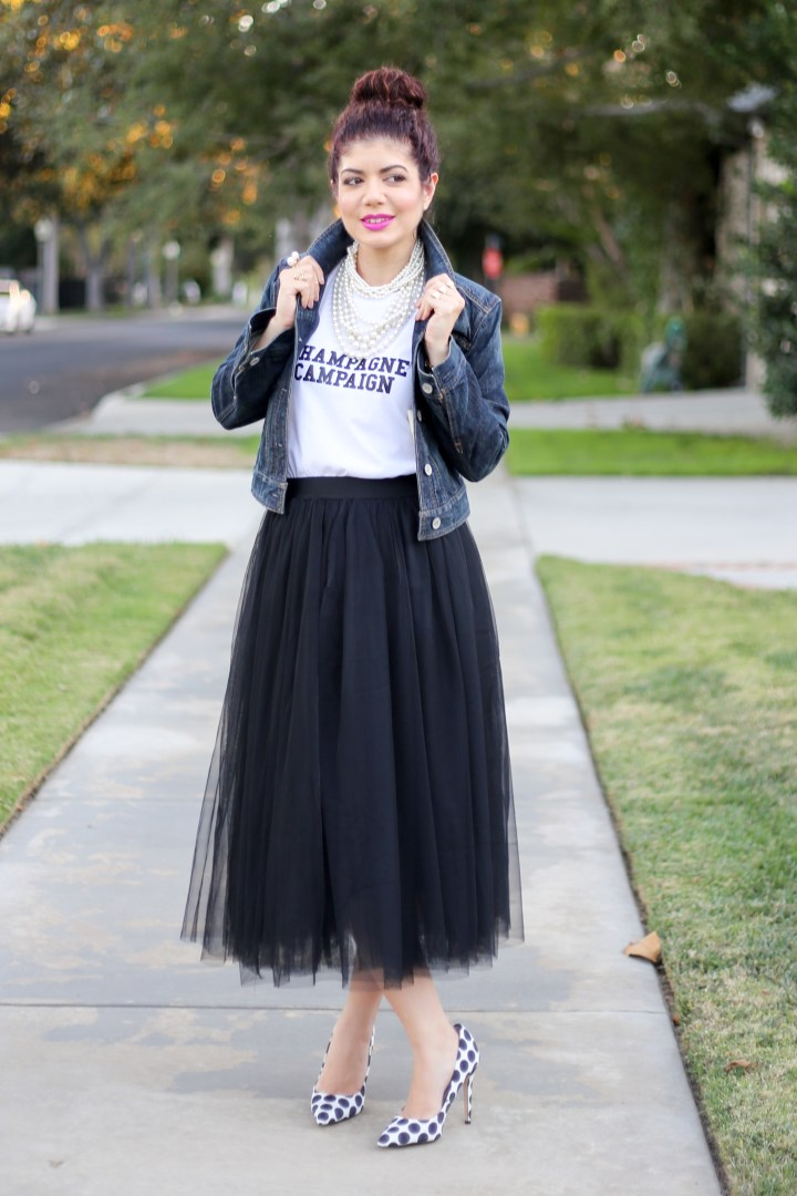 4b98cd470 ... Tulle skirt | tulle skirt outfit | how to wear a tulle skirt | black  tulle