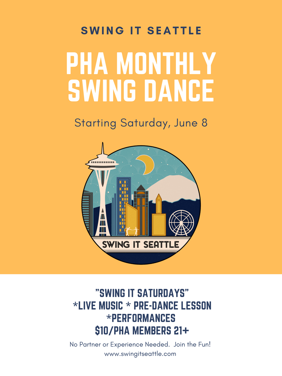 PHA Monthly Swing Dance