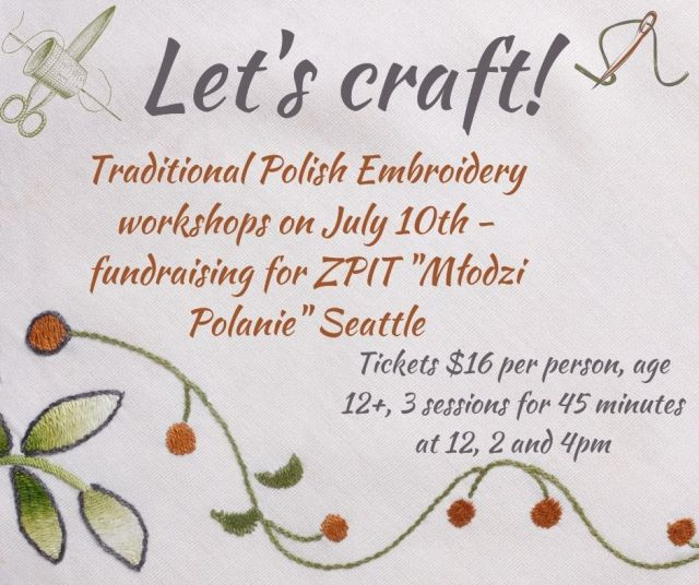 Traditional Polish Embroidery Workshop