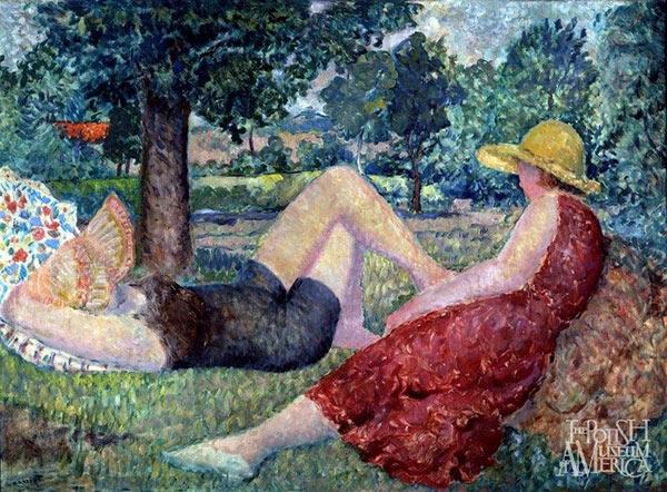 Tymon Niesiołowski (1882-1965), Summer [Lato], oil on canvas, circa 1935