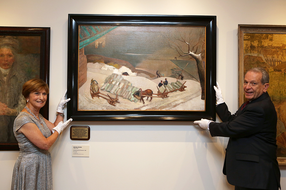 Newly restored painting unveiled