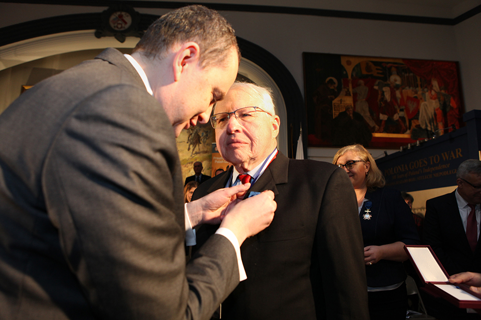 President and Employees of Polish Museum of America were awarded