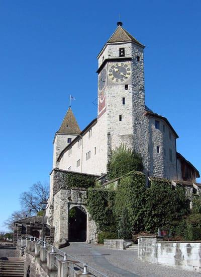 Wejscie do zamku w Rapperswil