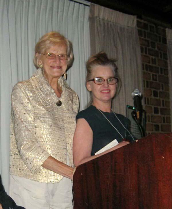 Pictured L-R: 1st VP Bernadette Wiermanski presenting Cultural Achievement Award to Barbara Kathleen Herbich.