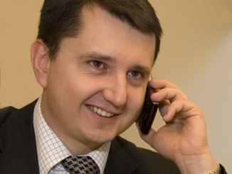 Sylwester Jankowski on the phone