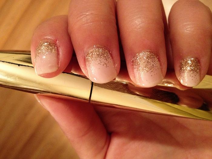 Glitter Faded Nails