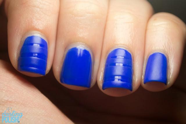 Nails, Nail Art, Sinful Colors Endless Blue, Blue, Matte