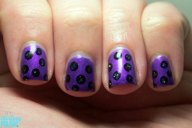 Nails, Nail Art, Dotticure, Dots, Polka Dots, ELF Metal Madness, Hey Darling Polish