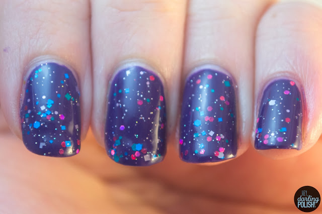 nails, nail polish, indie, indie polish, indie friday, live life polished, glitter mania, purple, pink, blue
