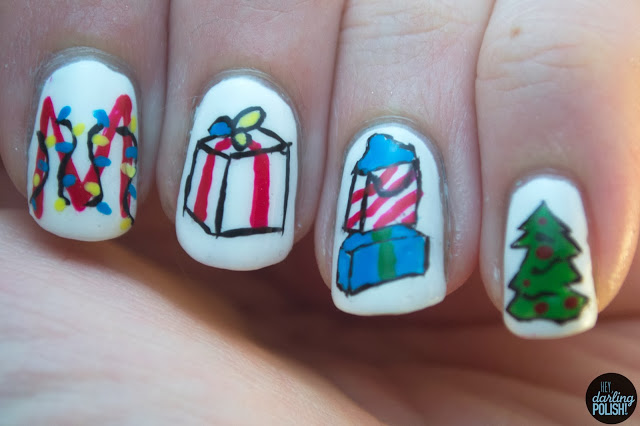 nails, nail art, nail polish, the maine, ...and a happy new year, hey darling polish,
