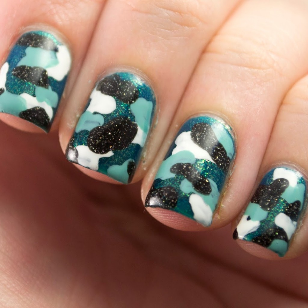 Nail Art A Go Go Day 12 Camouflage Polish Those Nails
