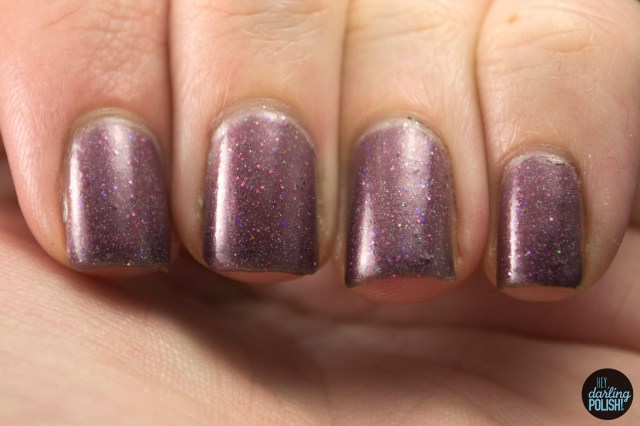 hey darling polish, indie, indie polish, nail polish, polish, star crushed minerals, swatch, red blackberry, plum, shimmer