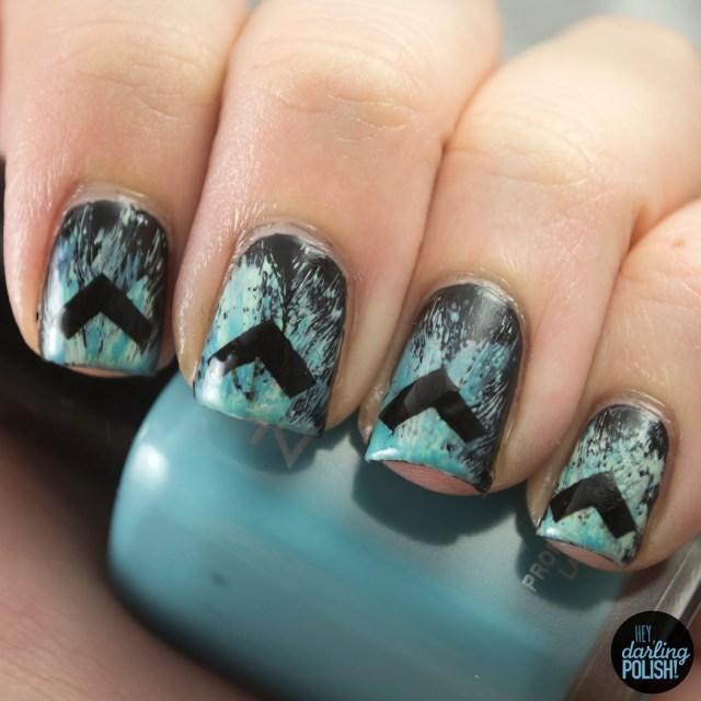 nails, nail art, nail polish, polish, the lonely forest, arrows, music monday, hey darling polish