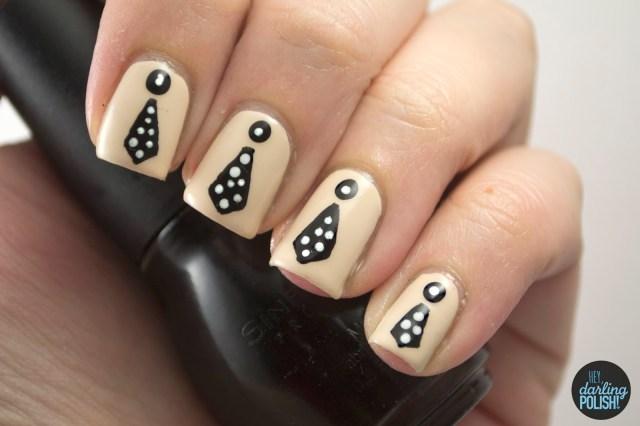 nails, nail art, nail polish, polish, ties, william beckett, benny & joon, music monday, hey darling polish
