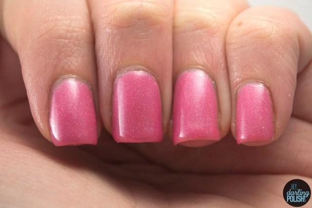 nails, nail polish, indie, indie polish, pink, pink anemonemone, squishy face polish, swatch, hey darling polish