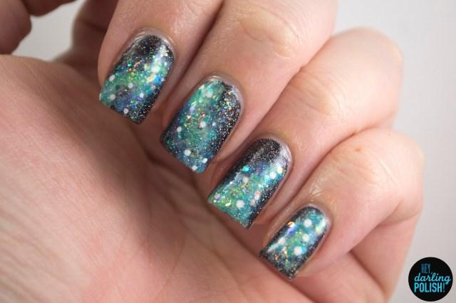 nails, nail polish, polish, nail art, galaxies, galaxy, theme buffet, sparkle, glitter, hey darling polish