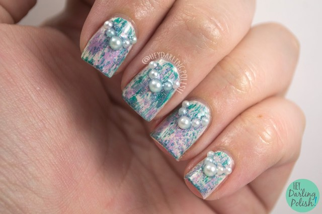 nails, nail art, nail polish, polish, distressed, pearl, naillinkup, opi, hey darling polish