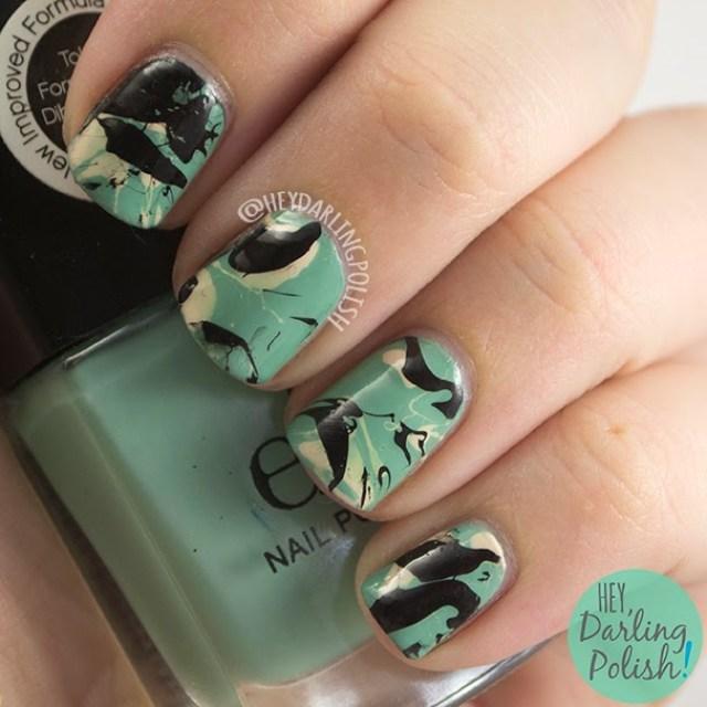 nails, nail ar,t nail polish, splatter nails, splatter, omd2, hey darling polish,