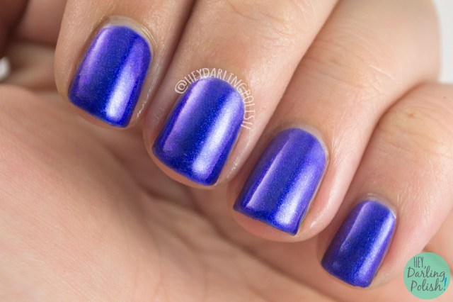 nails, nail polish, indie polish, indie, kitty polish, hey darling polish, blue, purple, amazeballs
