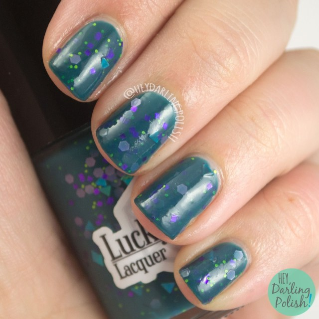 teal, hey darling, nails, nail polish, indie polish, indie nail polish, lucky 13 lacquer, hey darling polish, giveaway,