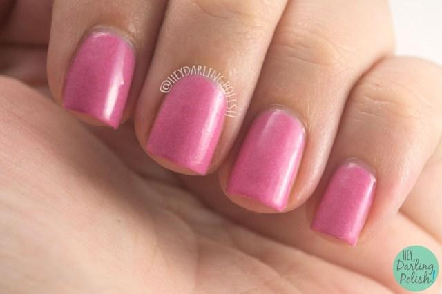 strawberry wine, pink, creme, nails, nail polish, indie polish, indie nail polish, live life polished, hey darling polish, farewell summer,