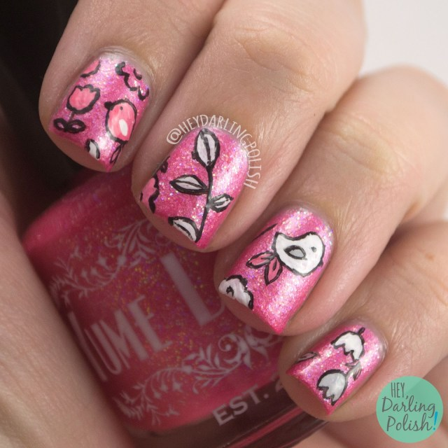 pink, pink lady, cutesy, nails, nail art, nail polish, indie polish, yume lacquer, sailor moon,