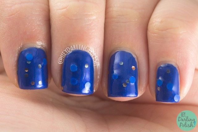 nails, nail polish, indie polish, indie nail polish, fandom cosmetics, wit and learning, blue, hey darling polish, ravenclaw