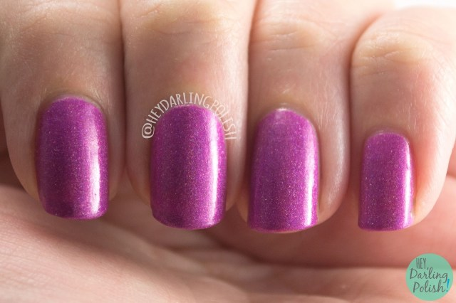 valentines day, valentines, do ya love me?, holo, radiant orchid, nails, nail polish, indie polish, indie nail polish, hey darling polish, ice polish, swatches