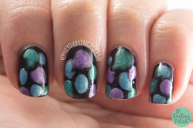 nails, nail art, nail polish, blobbicure, hey darling polish, shimmer, 2015 cnt 31 day challenge, zoya, luxe lacquers