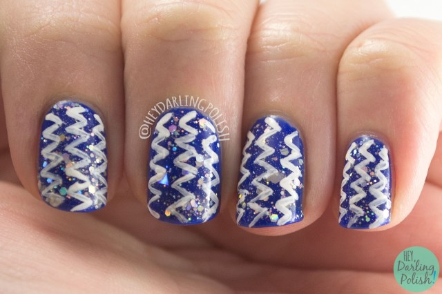 nails, nail art, nail polish, acrylic paint, hey darling polish, glitter, 2015 cnt 31 day challenge