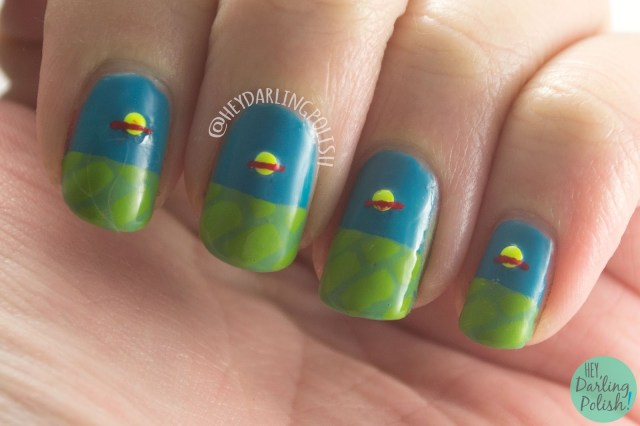 nails, nail art, nail polish, rugrats, chuckie finster, hey darling polish, 52 week challenge, studs