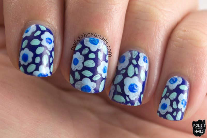 bryant, blue, shimmer, parallax polish, indie polish, secience collection, science, nail art
