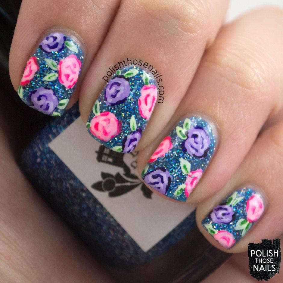 nails, nail art, nail polish, glitter, roses, polish those nails,
