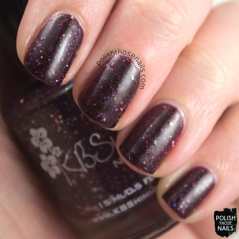 a raisin to live, purple, polish those nails, swatch, kbshimmer, indie polish, glitter crelly,