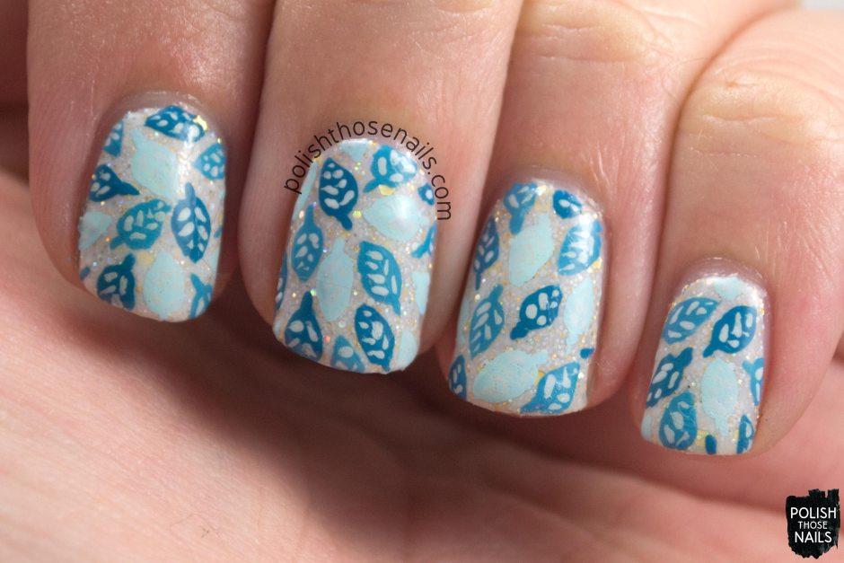 nails, nail art, nail polish, leaves, polish those nails, black dahlia lacquer, oh mon dieu 3, omd3