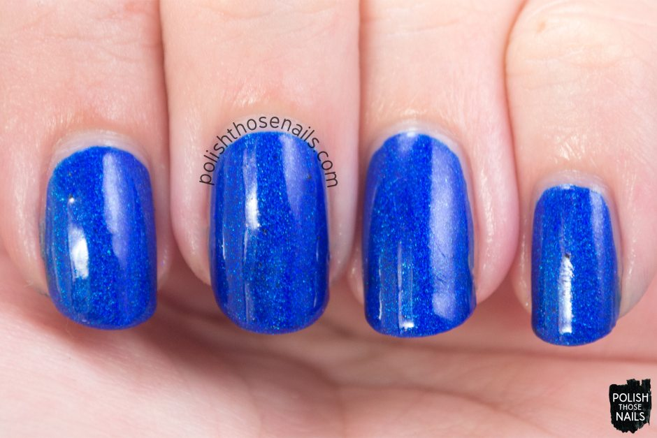 blue, holo, brocas area, nails, nail polish, indie, indie polish, indie nail polish, parallax polish, polish those nails, swatch