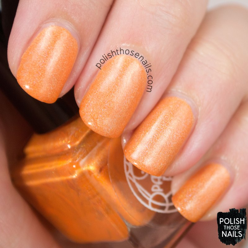 fusiform gyrus, orange, holo, nails, nail polish, indie, indie polish, indie nail polish, parallax polish, polish those nails, swatch
