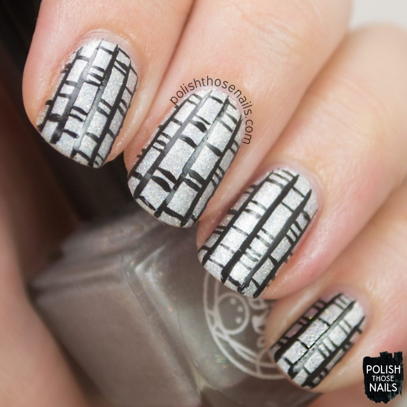 nystagmus, silver, lines, nails, nail art, nail polish, indie, indie polish, indie nail polish, polish those nails, parallax polish