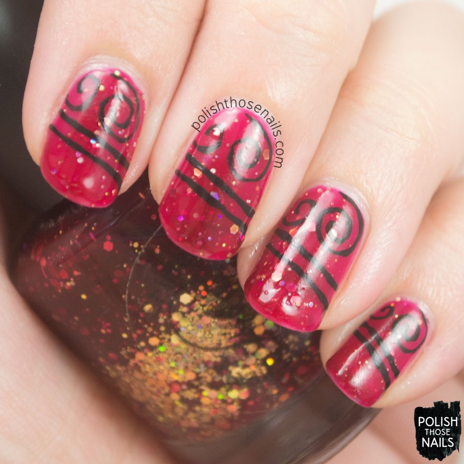 nails, nail art, nail polish, red, glitter, polish those nails,