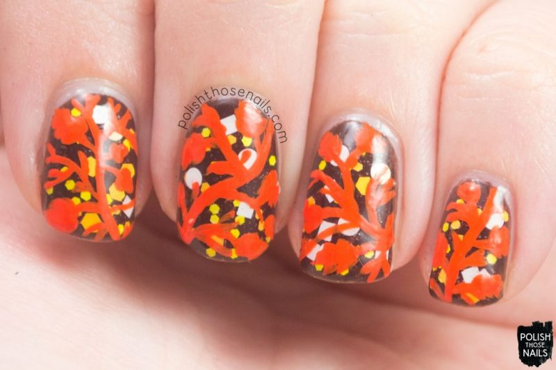 nails, nail art, nail polish, glitter, leaves, autumn nail art, polish those nails