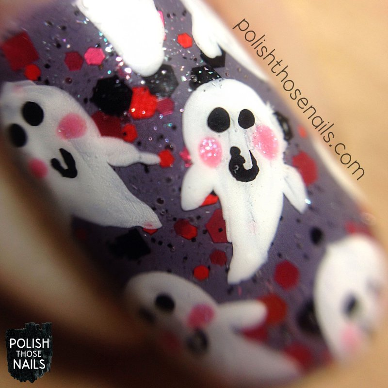 nails, nail art, nail polish, ghost, polish those nails, macro