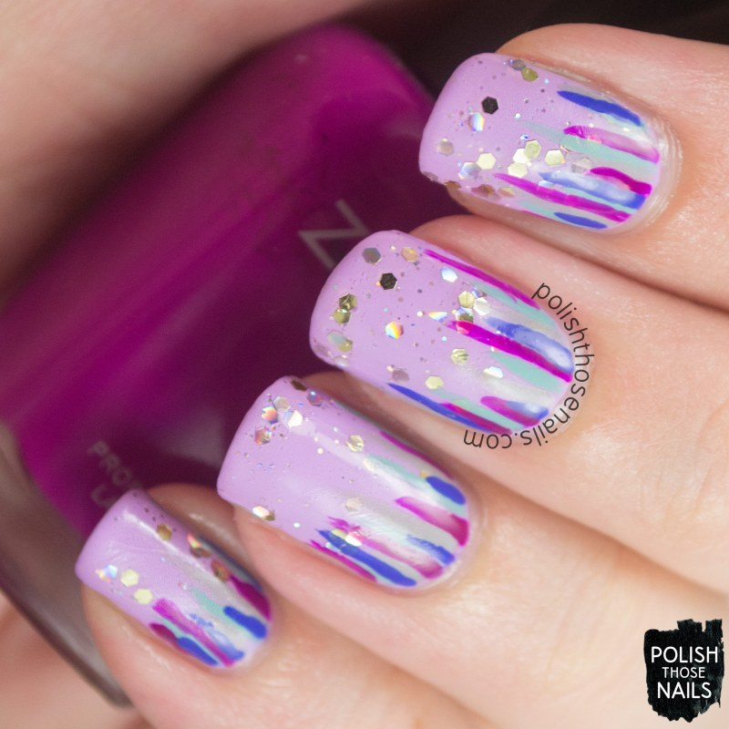 nails, nail art, nail polish, waterfall, polish those nails, glitter