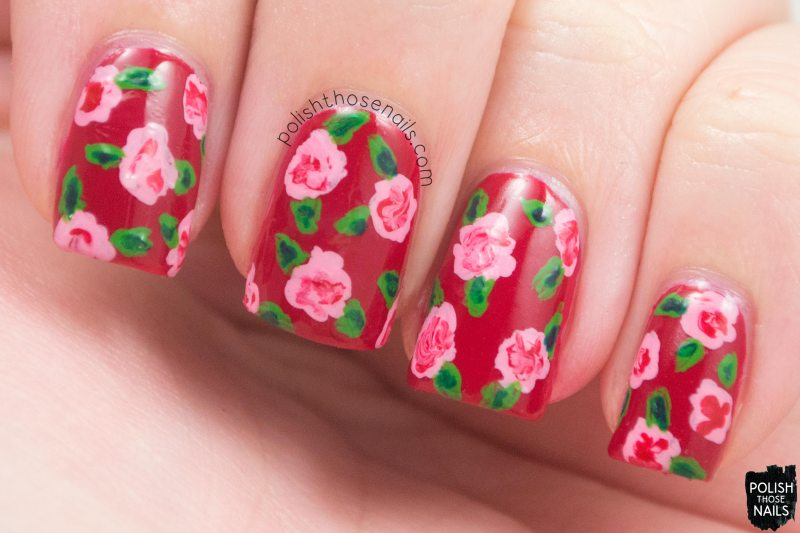 Love-Is-In-My-Cards-Red-Creme-Rose-Nail-Art-1