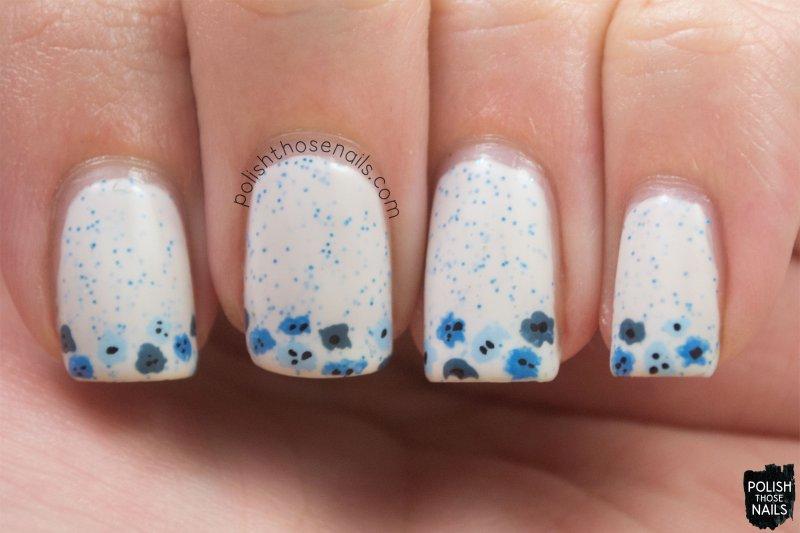 nails, nail art, nail polish, floral, flowers, polish those nails, indie polish