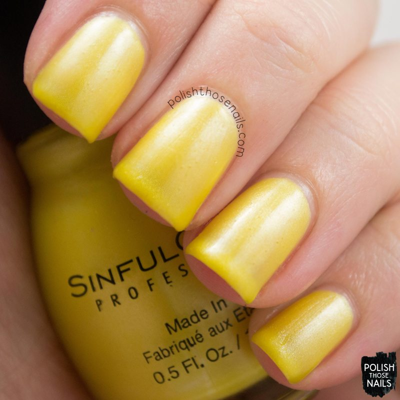 nails, nail polish, sinful colors, swatch, polish those nails, yellow, a burst of fresh flair, shimmer