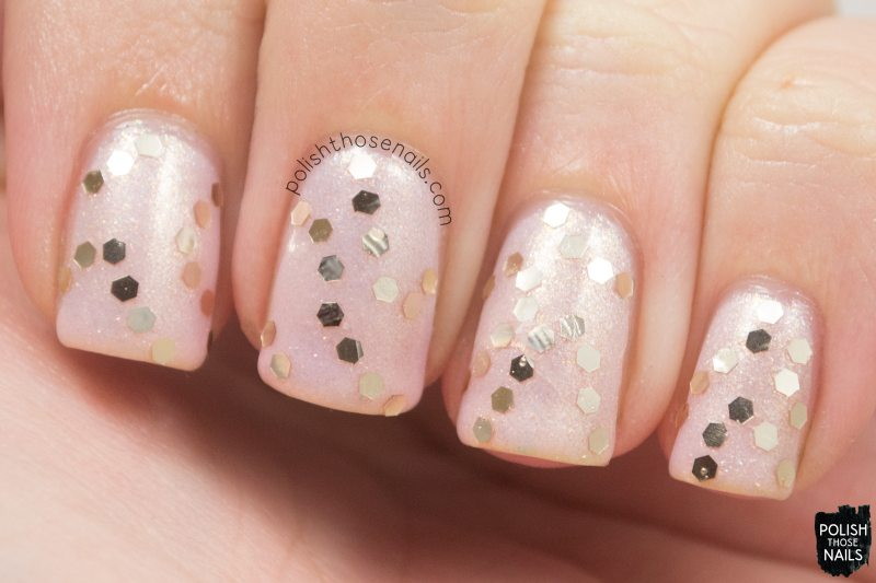 glass pink, shimmer, pink, delicate, nails, nail art, nail polish, sinfulcolors,