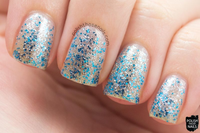 nails, nail polish, sinful colors, swatch, polish those nails, ice dream, glitter, silver, blue