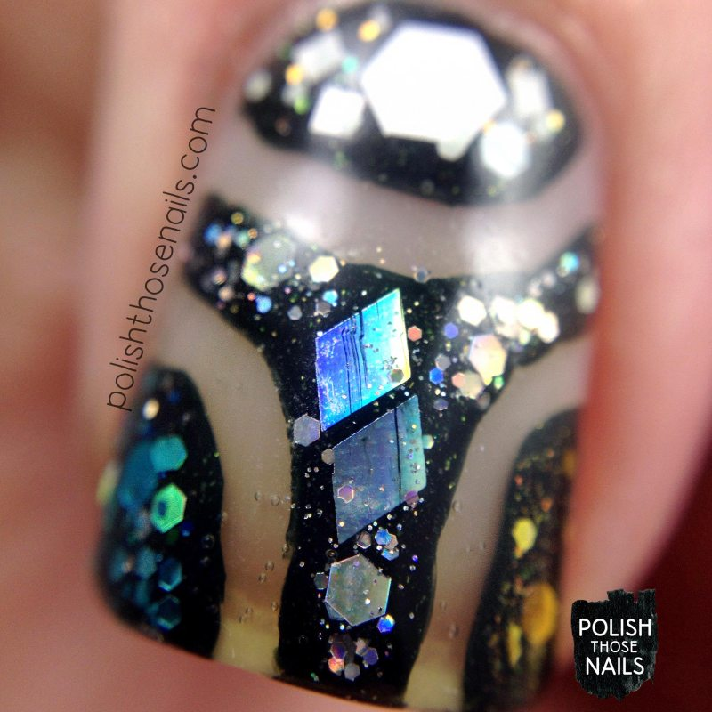 nails, nail art, nail polish, polish those nails, glitter, negative space, macro