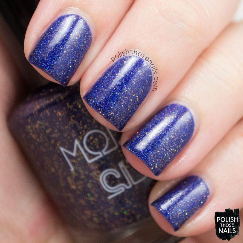 cosmic lovers, blue, holo, nails, nail polish, indie polish, model city polish, polish those nails