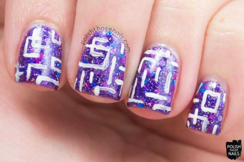 itty bitty bikini, purple, glitter, nails, nail polish, indie polish, model city polish, polish those nails, nail art